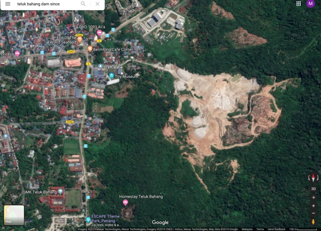 Site of the illegal quary in Telok Bahang, Penang