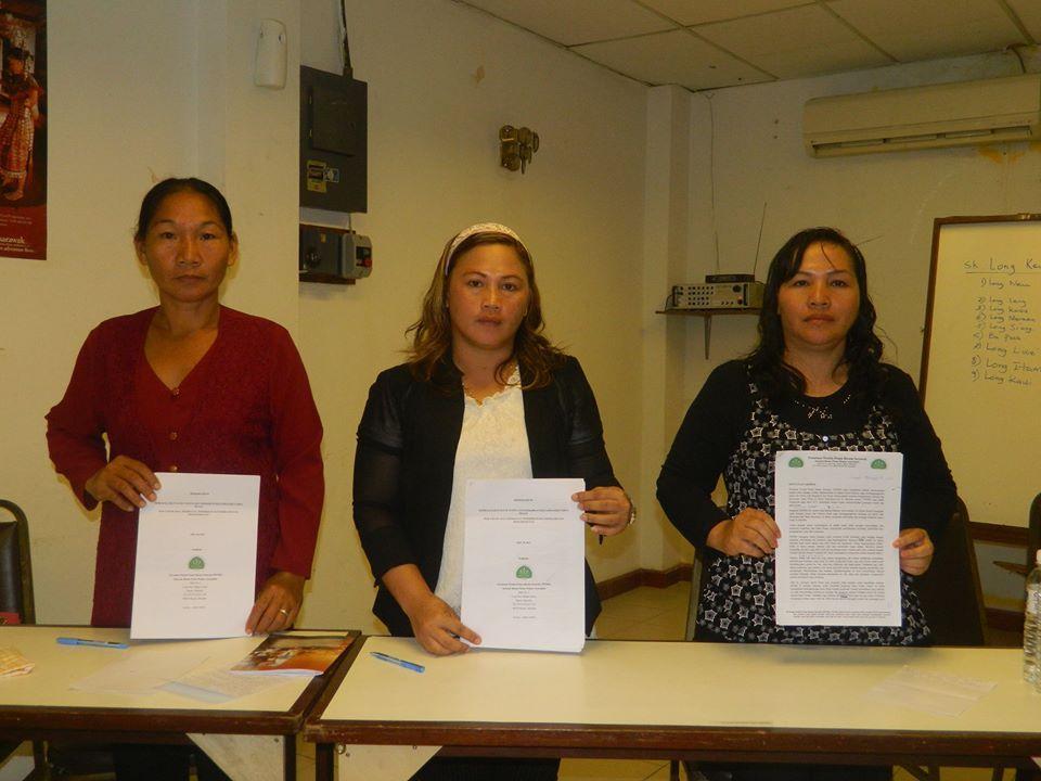 PWPBS dengan memorandum yang akan diserahkan kepada Kerajaan Negeri Sarawak