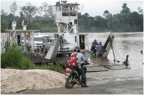 Ferry service in Bakong, Sarawak