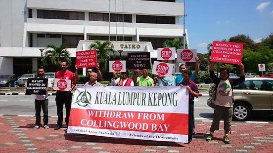 Protesting against KLK's presence in Collingwood Bay | SAM