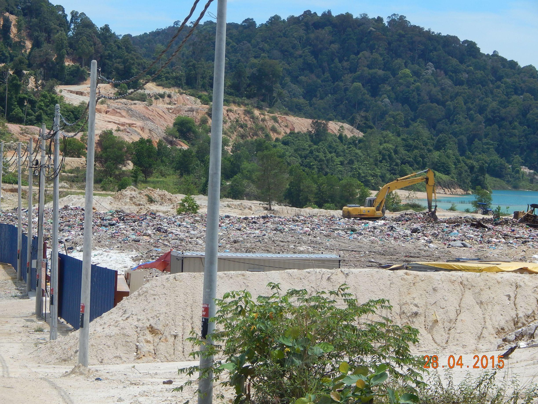 Teluk Mengkudu open sanitary landfill