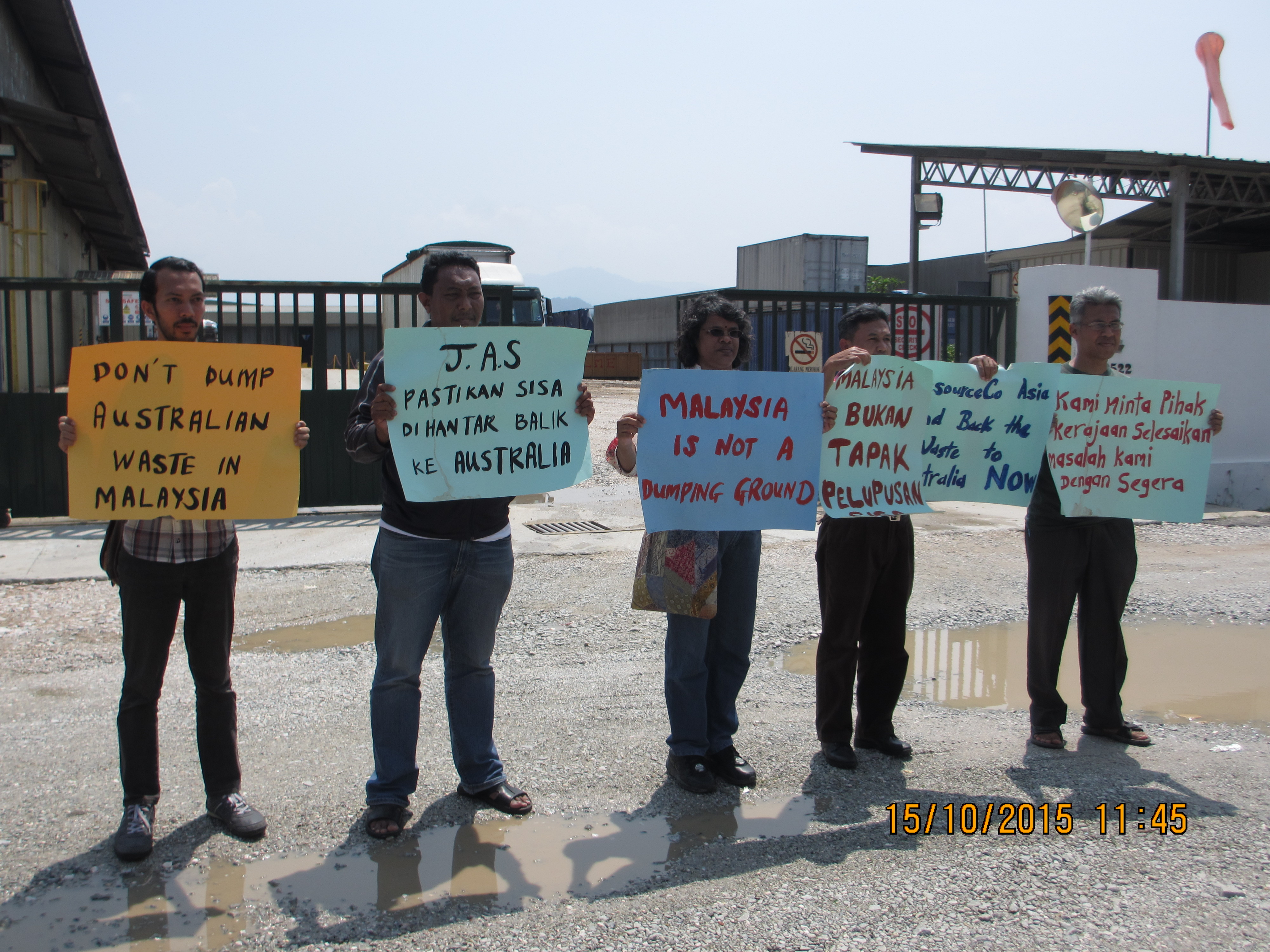 SAM staff protest in front of ResourceCo Asia office in Ipoh | SAM