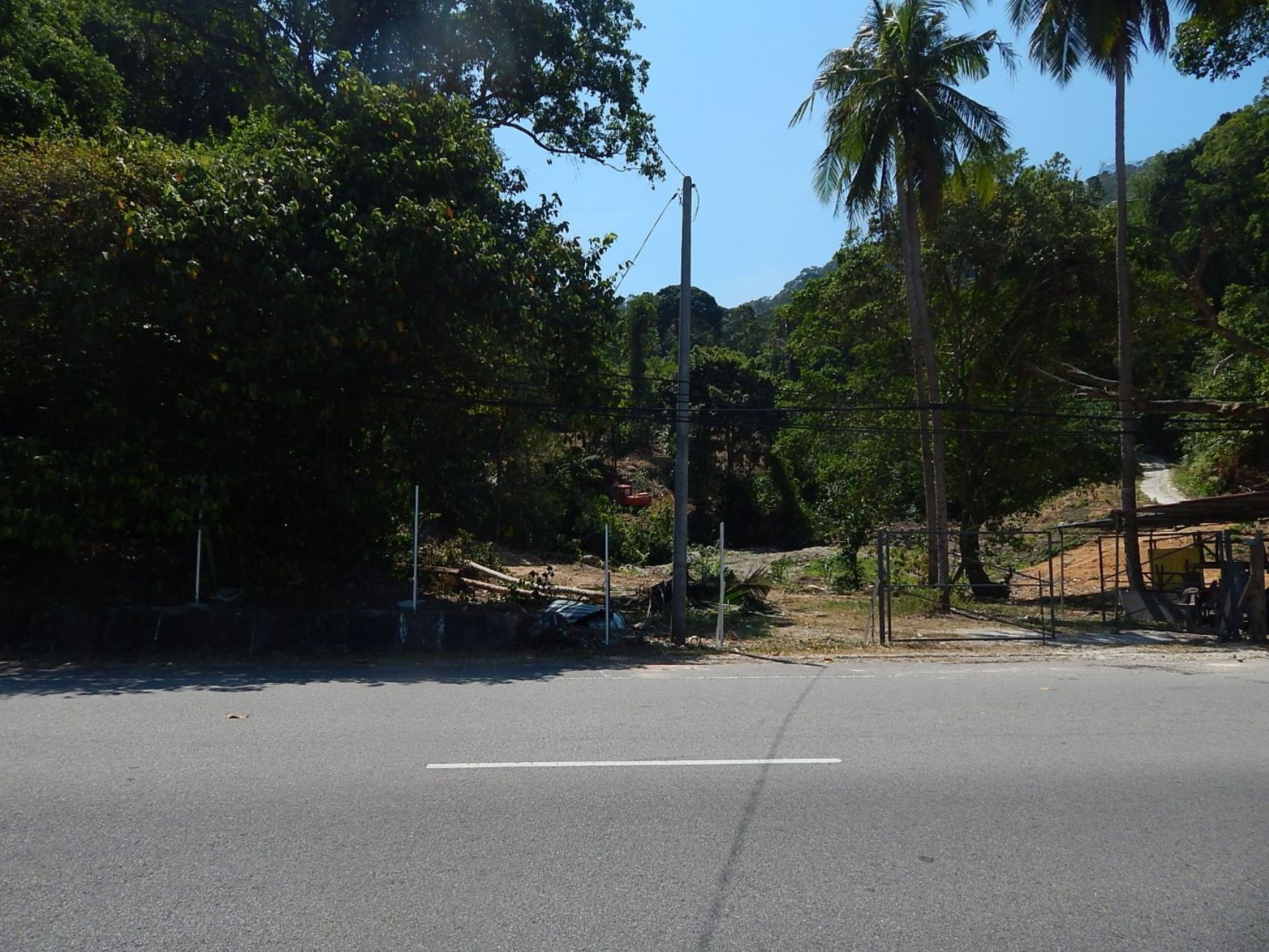 Development taking place by Jalan Batu Ferringhi. No signboard is visible | SAM