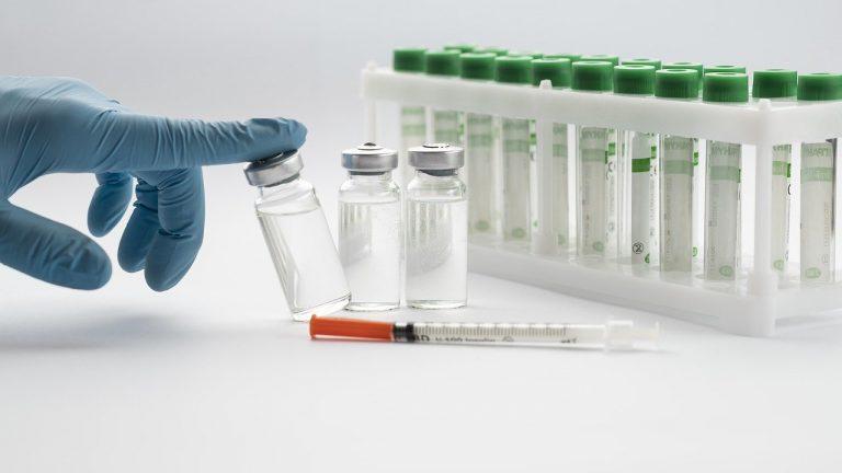 vaccine, syringe, vials